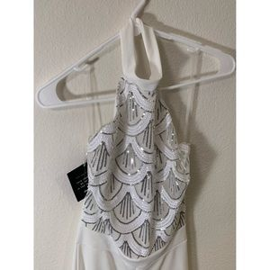 "Charlotte Russe White ""Night"" Romper"